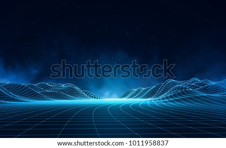 abstract digital landscape with