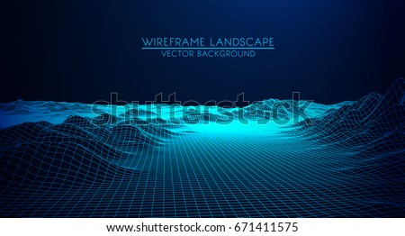 abstract digital landscape with ...