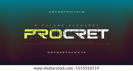Abstract digital modern alphabet fonts. Typography technology electronic, sport, music, future creative font. vector illustraion