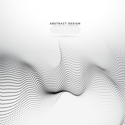 abstract digital particles array wireframe background