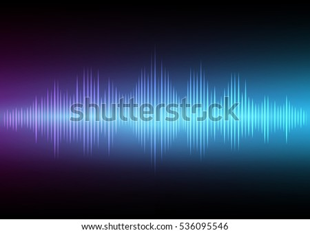 Abstract digital sound wave and music beats background that can used for business presentation.