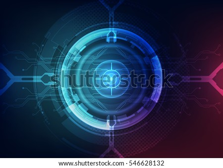 abstract digital technology