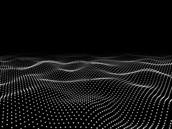 Abstract digital wave particle. Abstract background.