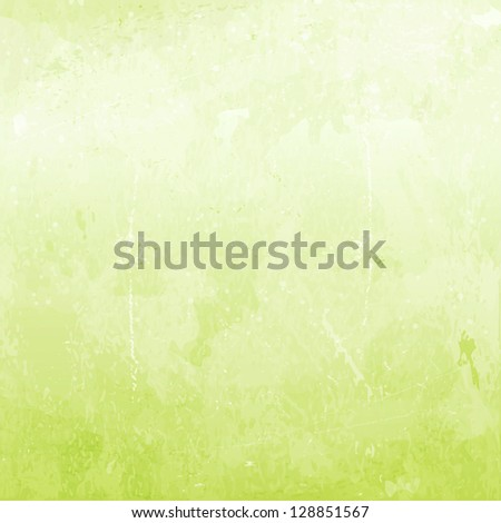 Abstract Distressed Background In Shades Of Light Green. Stock