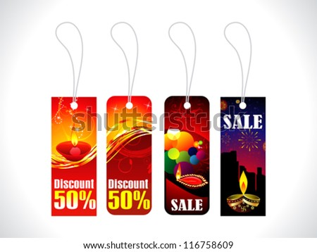 abstract diwali sale tag template vector illustration Stock photo ©