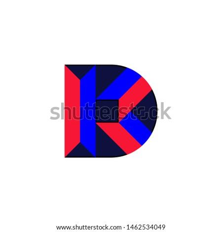 abstract DK monogram, D letter, K letter, DK logo .vector Stock fotó ©
