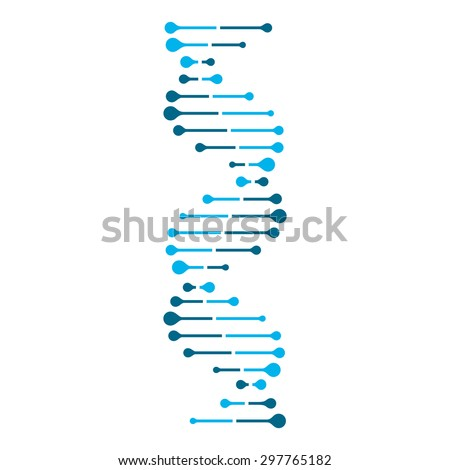 abstract dna strand symbol