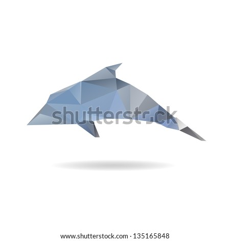 Abstract dolphin isolated on a white background