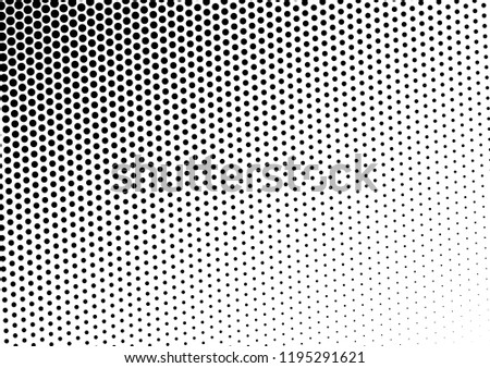 Abstract Dots Background. Gradient Grunge Backdrop. Black and White Distressed Overlay. Monochrome Texture. Vector illustration