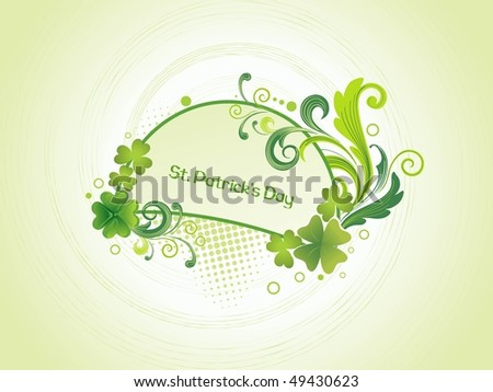 abstract dotted background with floral pattern frame
