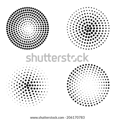 Abstract dotted circles