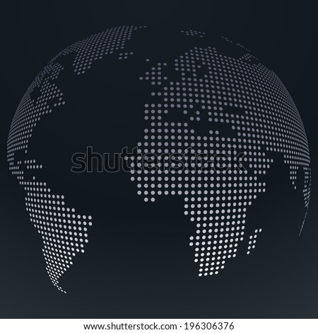 Abstract dotted globe background