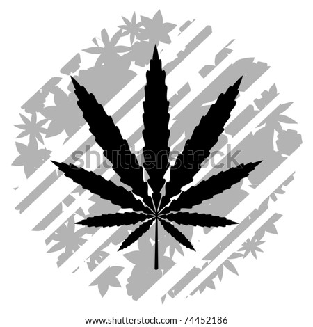 Cool Weed Leaf Drawings Abstract drawing of a
