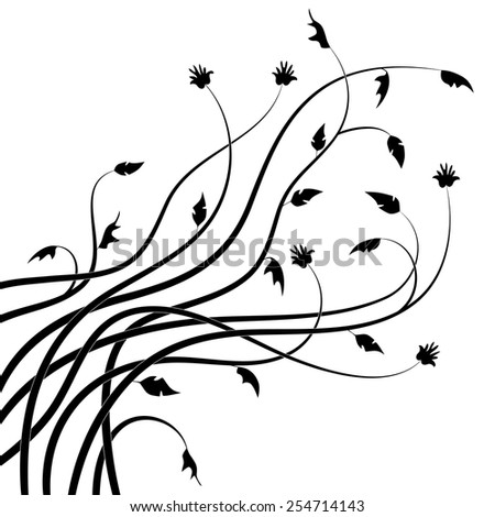 Abstract drawn twigs. Vector illustration