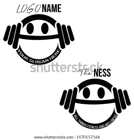 Abstract DUMB BELL Gym style Logo design - Vector