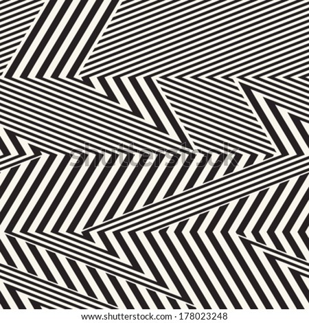 abstract dynamic broken striped