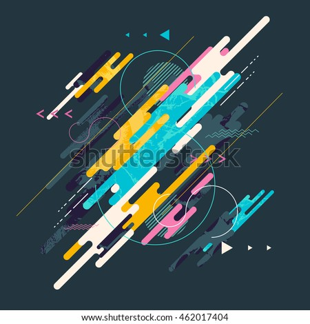 Stock Photo Abstract dynamic geometric background