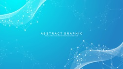 Abstract dynamic motion lines and dots background with colorful particles. Digital streaming background, wave flow. Plexus stream background. Technology vector illustration