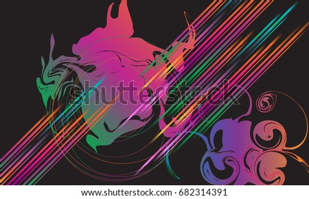 abstract dynamic multicolored