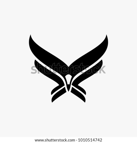 Abstract eagle logo design inspiration, hawk logo design