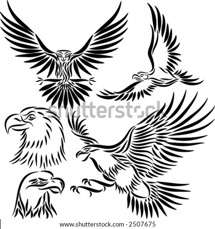 stock vector : Abstract eagle, vector illustration