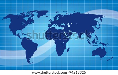 abstract earth blue vector illustration