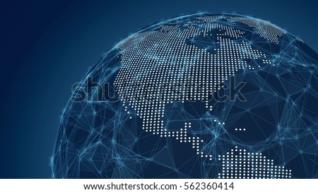 Abstract Earth Map