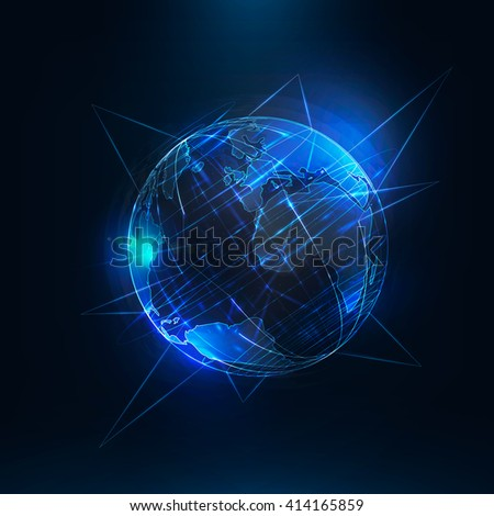 abstract  earth  sci fi globe