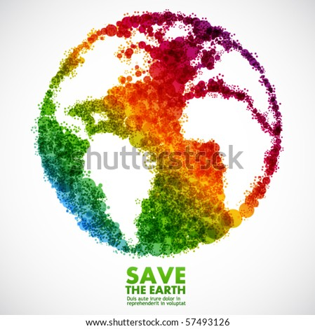 Abstract earth symbol - global eco concept