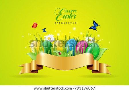 abstract easter background with