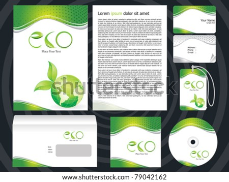 abstract eco based corporate design template vector illustration