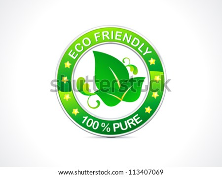 abstract eco friendly icon vector illustration