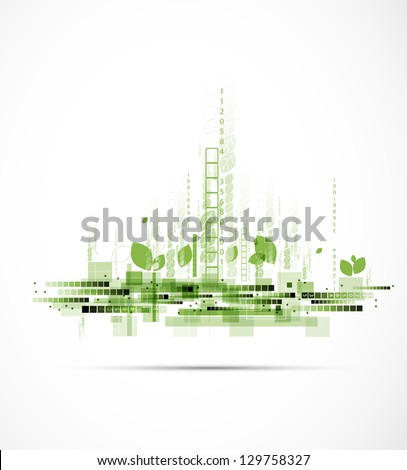 abstract eco futuristic high