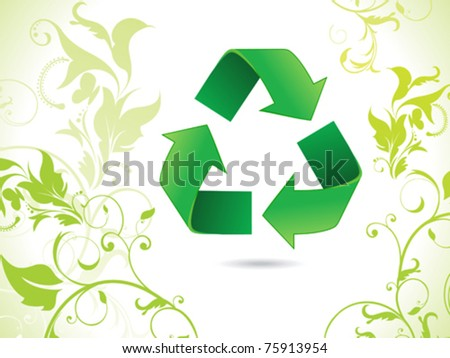 abstract eco green recycle icon vector illustration