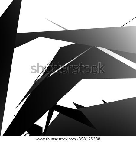 abstract edgy  angled shapes