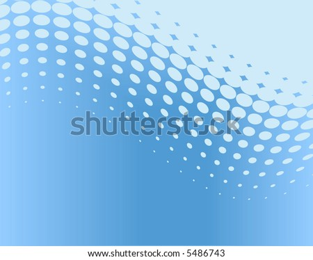 Abstract editable vector background of blue dot pattern