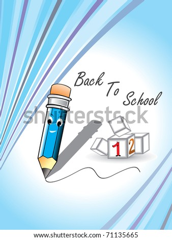 abstract education background, vector for back to school