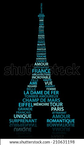 abstract eiffel tower made from