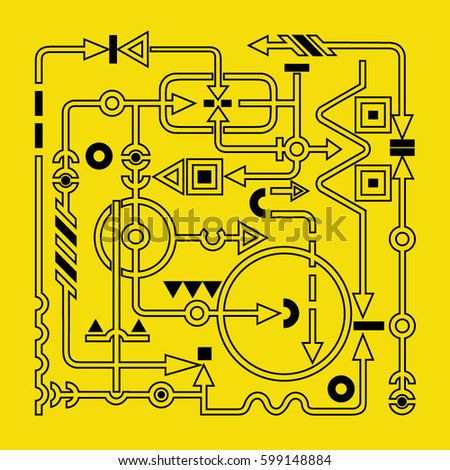 abstract electric circuit