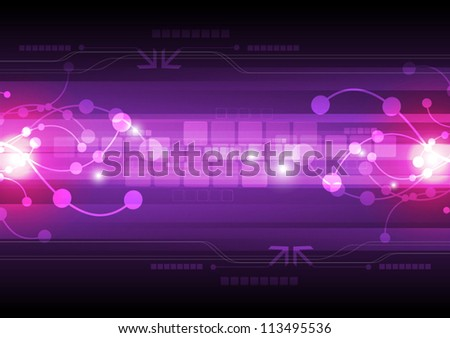 abstract electric digital technology background, vector illustration