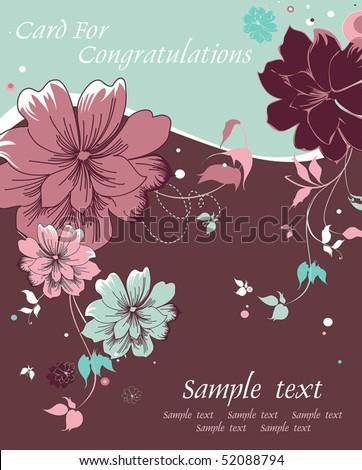 Abstract Elegance Greeting Card Design. Happy Birthday