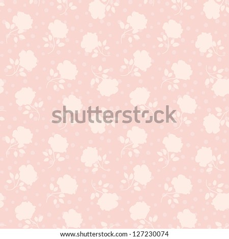 Abstract Elegance seamless floral pattern. Beautiful flower vector illustration.