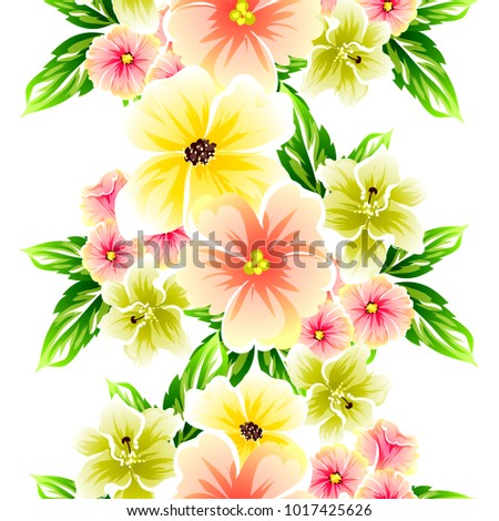 Abstract elegance seamless pattern with floral background #1017425626