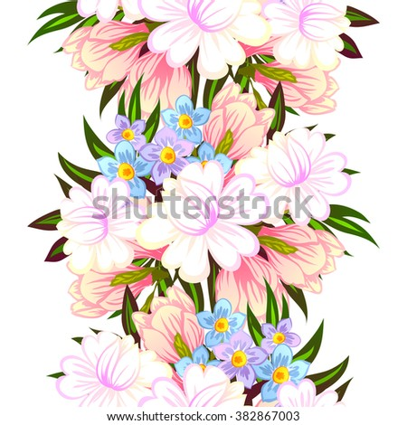Abstract elegance seamless pattern with floral background #382867003