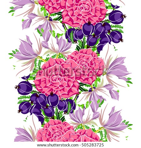 Abstract elegance seamless pattern with floral background #505283725