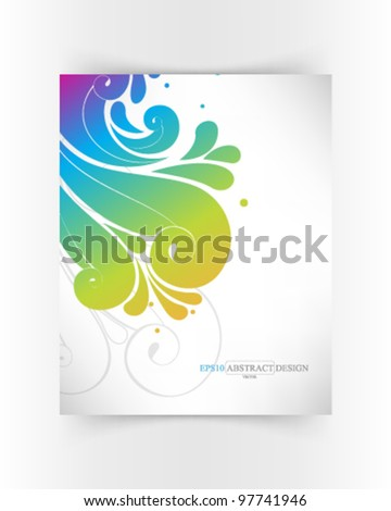 abstract elegant colorful foliage illustration. eps10 vector format