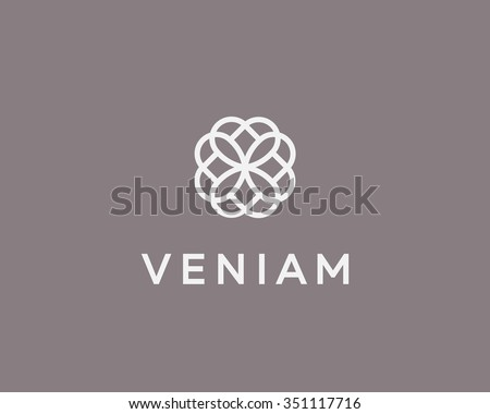 abstract elegant flower logo