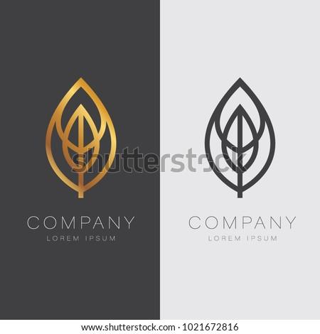 Abstract Elegant Leave Shape Logo Sign Symbol Icon