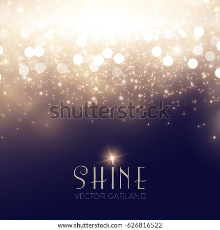 Abstract Elegant Shining Background. Twenties, Thirties and Art Deco Style. Bokeh, Lights and Fog Background. Vector illustration #626816522