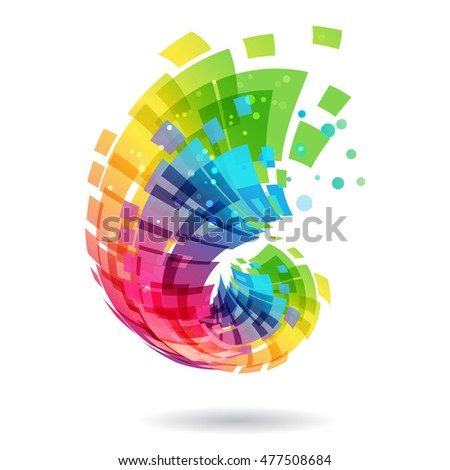 abstract element  multicolored